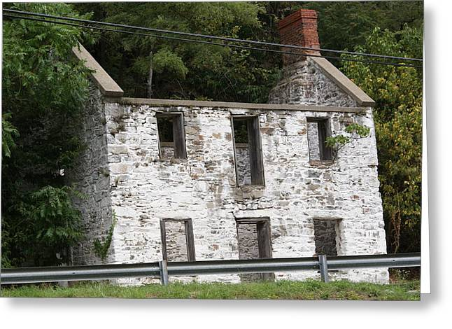 Old House Greeting Card by Heather Green