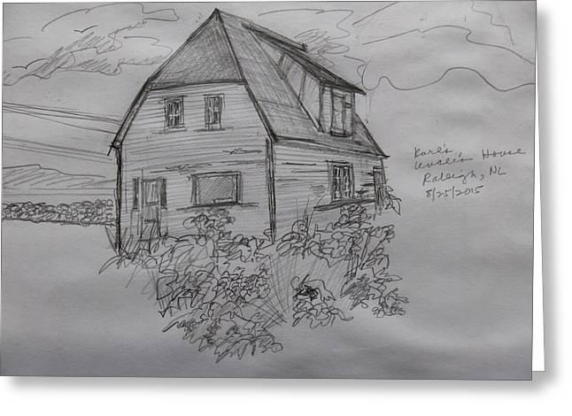 Old House In Raleigh Greeting Card by Joel Deutsch
