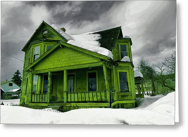 Greeting Card featuring the photograph Old House In Roslyn Washington by Jeff Swan