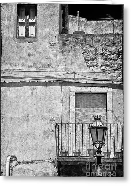 Old House In Taormina Sicily Greeting Card