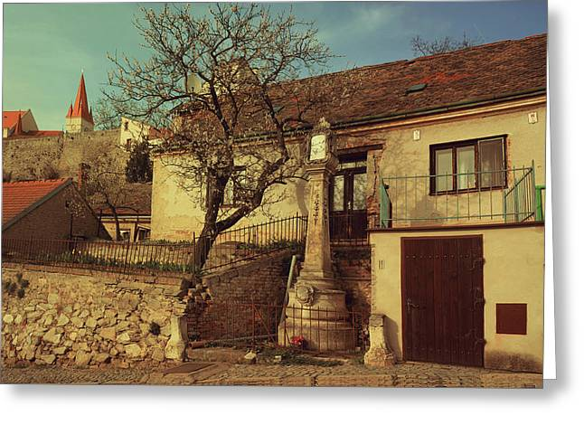 Old House In Znojmo. South Moravia Greeting Card by Jenny Rainbow
