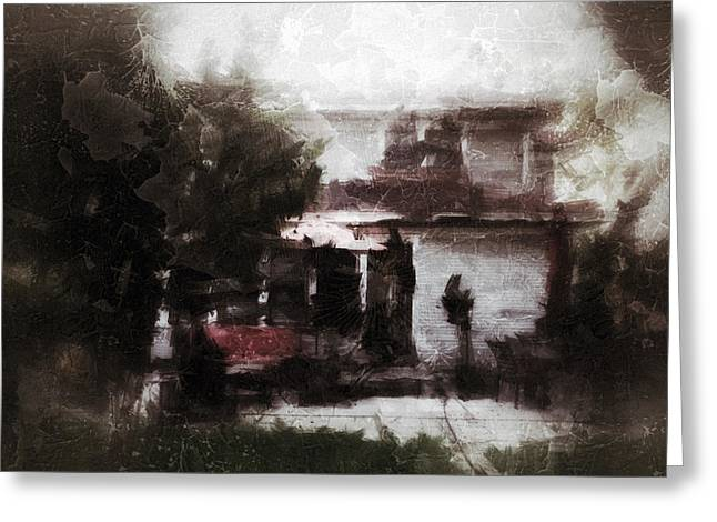 Old House Memory Greeting Card by H James Hoff