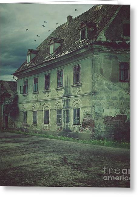 Old House Greeting Card by Mythja Photography