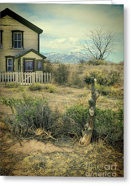 Greeting Card featuring the photograph Old House Near Mountians by Jill Battaglia