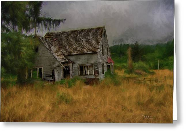 Old House On The Prairie Greeting Card