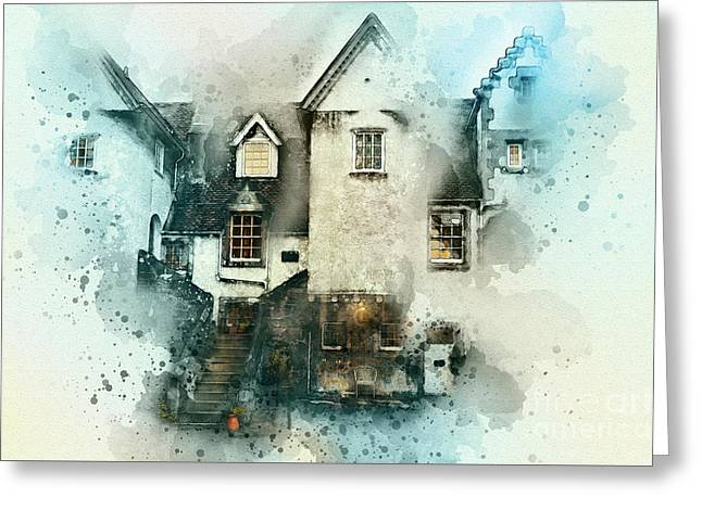 Old House Greeting Card by Svetlana Sewell