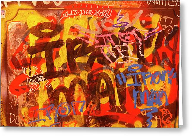 Old House Wall With Graffiti Greeting Card by Torsten Krueger