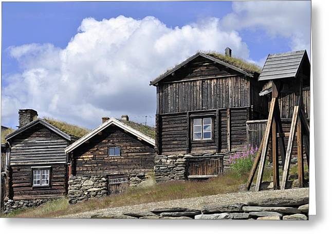 Old Houses In Roeros Greeting Card