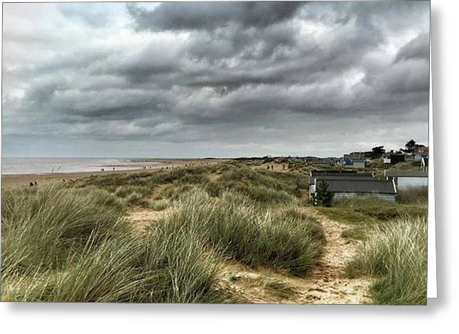 Old Hunstanton Beach, North #norfolk Greeting Card