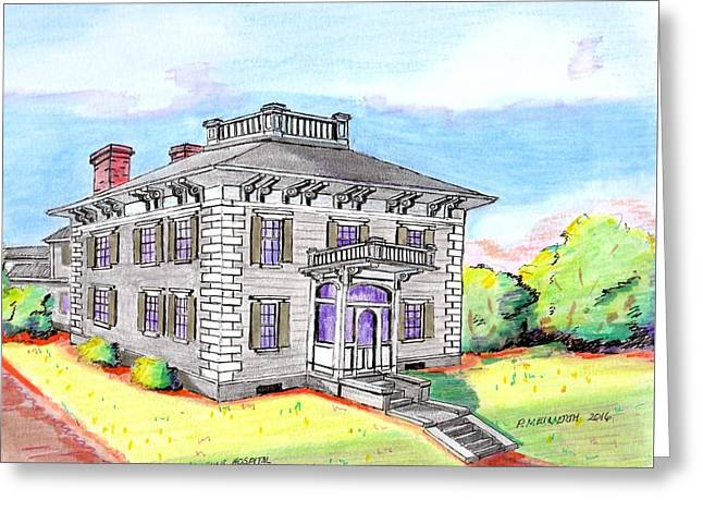Old Hunt Hospital Greeting Card by Paul Meinerth