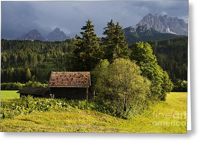 Greeting Card featuring the photograph Old Hut In Austria by Yuri Santin