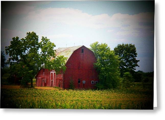 Old Indiana Barn Greeting Card