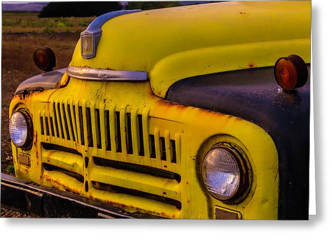 Old International Pickup Greeting Card by Garry Gay