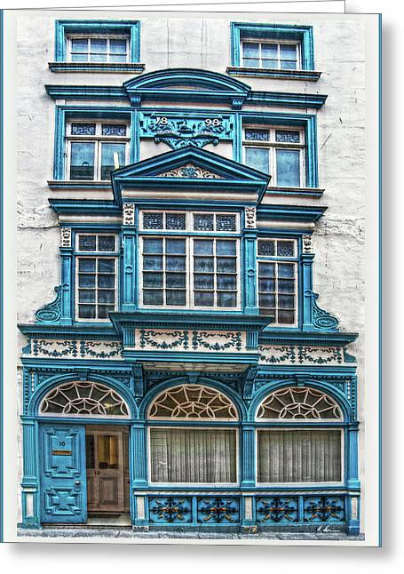 Greeting Card featuring the digital art Old Irish Architecture by Hanny Heim