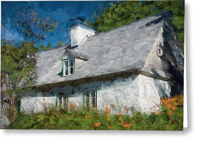 Old Island Cottage Greeting Card by Drifting Light