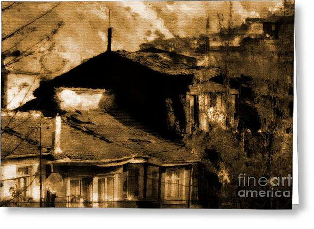 Greeting Card featuring the photograph Old Istanbul by Dariusz Gudowicz