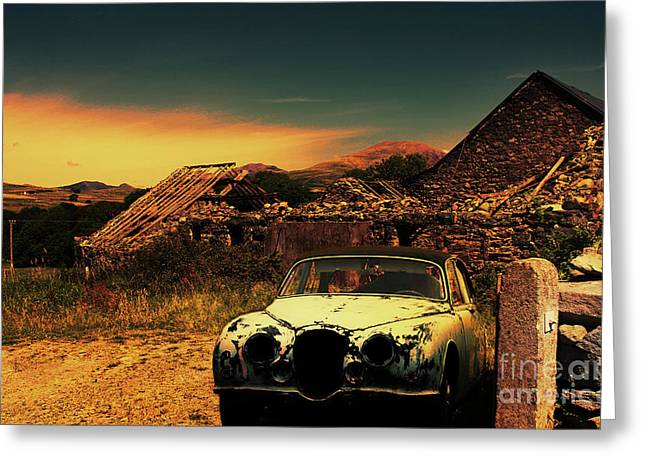 Old Jag Out To Pasture  Greeting Card