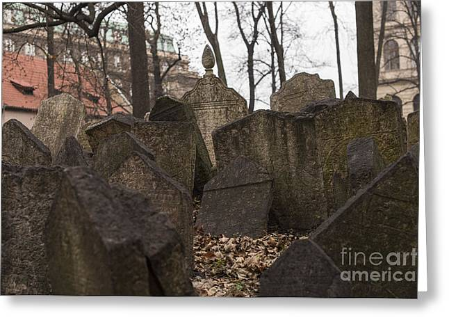 Old Jewish Cemetery In Prague Greeting Card