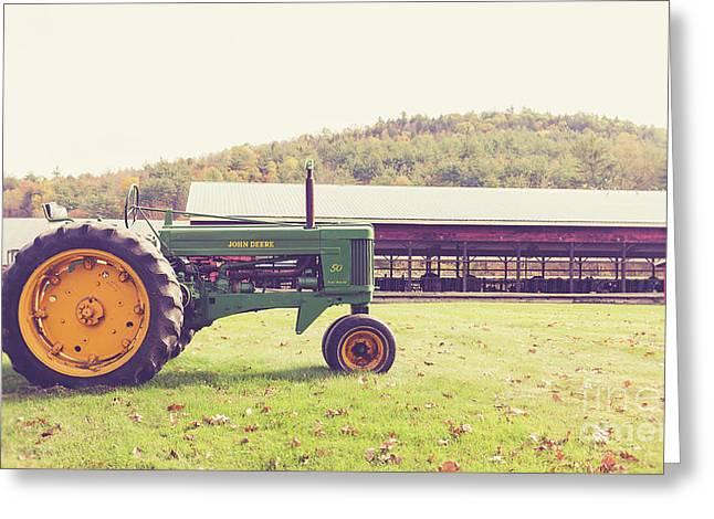 Old John Deere 50 Mac Farm Plainfield New Hampshire Greeting Card