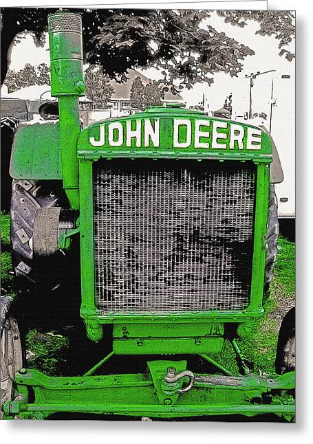 Old John Deere Tractor - Utah State Fair Greeting Card by Steve Ohlsen