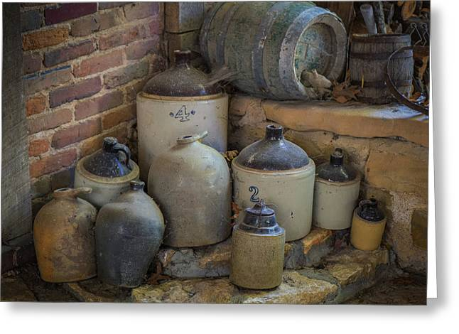 Old Jugs Color - Dsc08891 Greeting Card