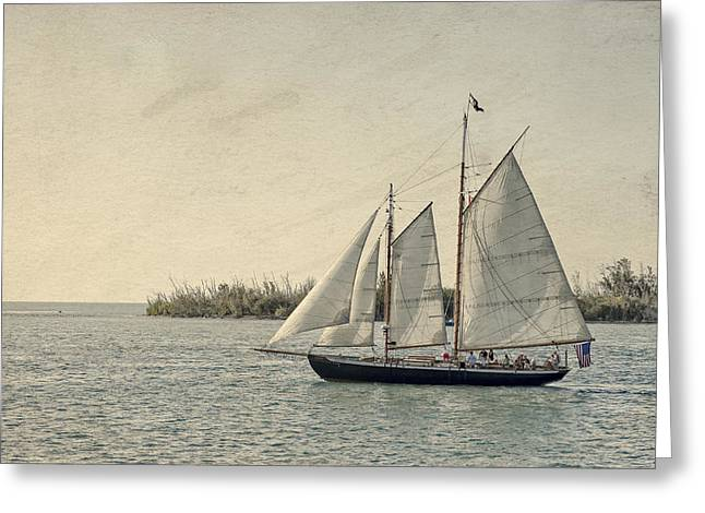 Old Key West Sailing Greeting Card