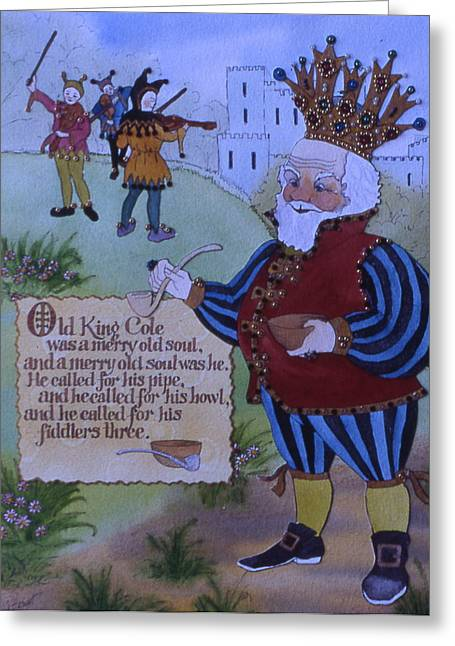 Old King Cole Greeting Card by Victoria Heryet