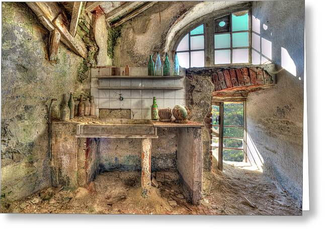 Old Kitchen - Vecchia Cucina Greeting Card