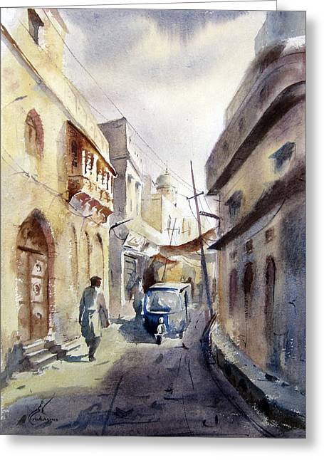 Old Lahore Greeting Card by MKazmi Syed