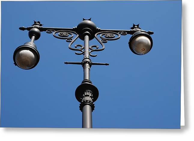 Old Lamppost Greeting Card by Rob Hans