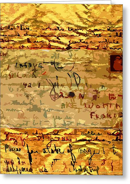 Old Letter Greeting Card by John Vincent Palozzi