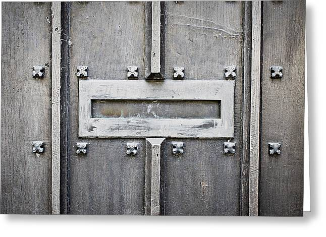 Old Letterbox Greeting Card by Tom Gowanlock