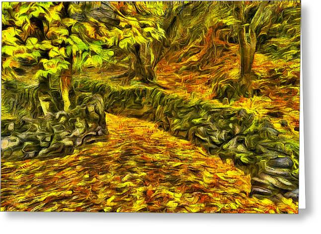 Old Liberty Park In Autumn Greeting Card