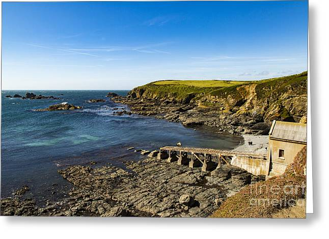 Greeting Card featuring the photograph Old Life Boat Station by Brian Roscorla