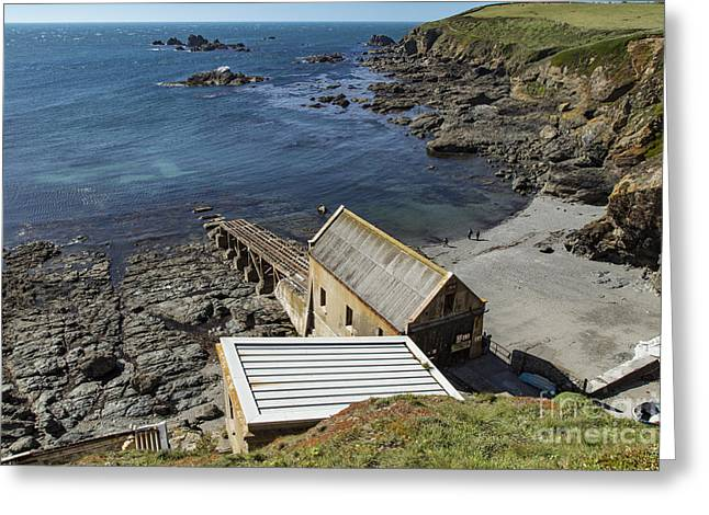 Greeting Card featuring the photograph Old Lifeboat Station by Brian Roscorla