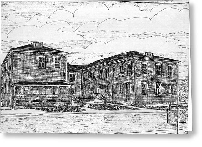 Old Lilly Lab At Mbl Greeting Card by Vic Delnore