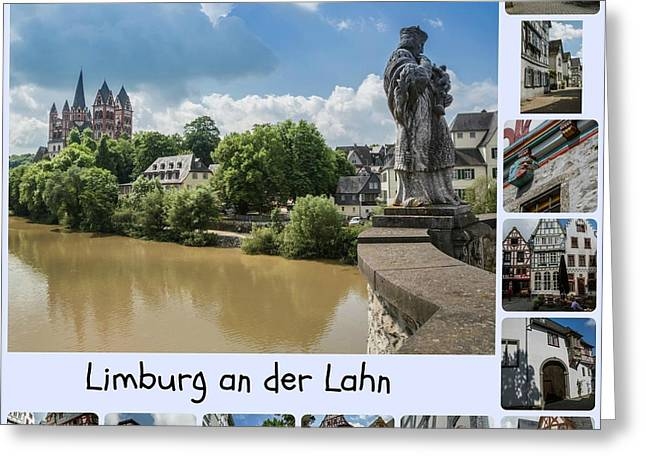 Old Limburg Collage Greeting Card by Eva Lechner