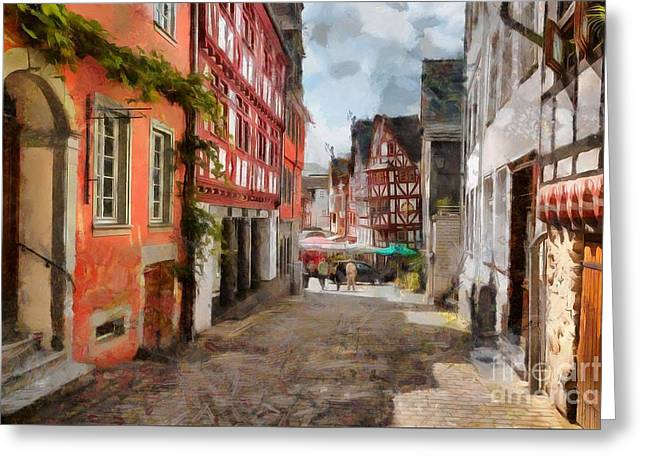 Old Limburg Greeting Card by Eva Lechner