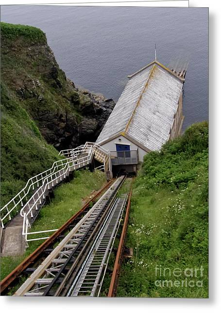 Old Lizard Lifeboat Station Kilcobben Cove Greeting Card by Terri Waters