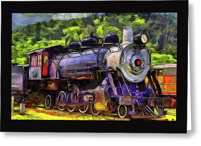 Old Locomotive No.90 Version 2 Greeting Card by Thom Zehrfeld