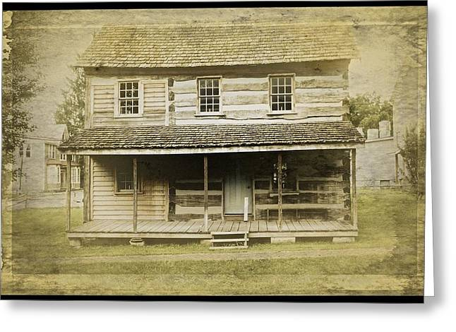 Greeting Card featuring the photograph Old Log Cabin by Joan Reese