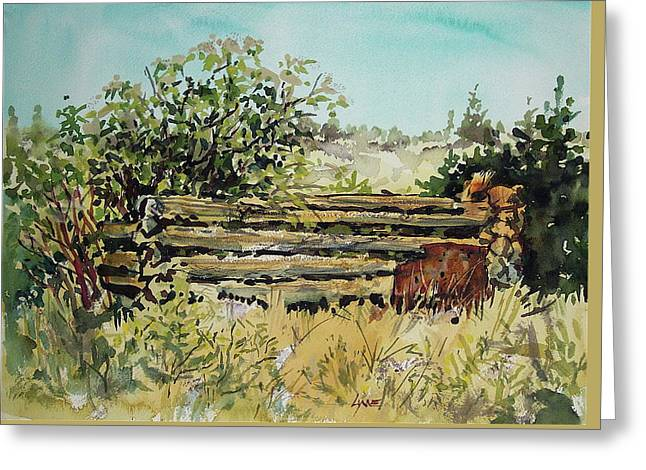 Old Log Shed Greeting Card