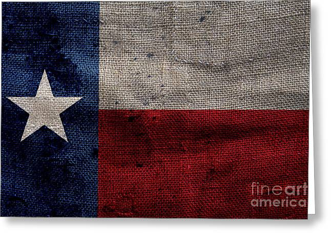 Old Lone Star Flag Greeting Card