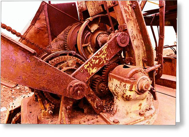 Old Machinery  Greeting Card