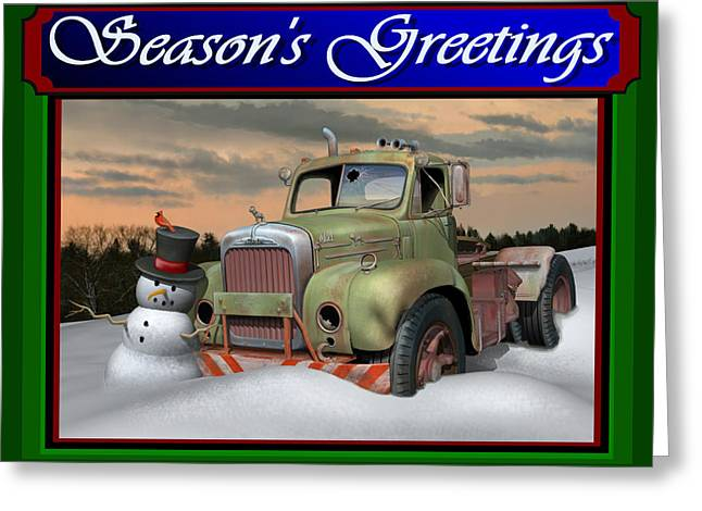 Old Mack Christmas Card Greeting Card