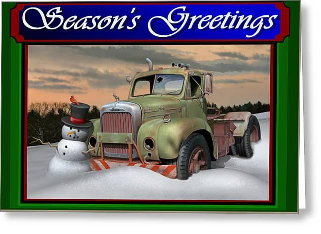 Old Mack Christmas Card Greeting Card by Stuart Swartz