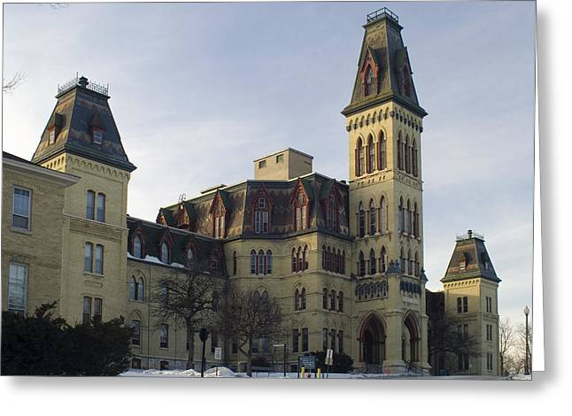 Old Main At Woods Wisconsin Greeting Card by Peter Skiba