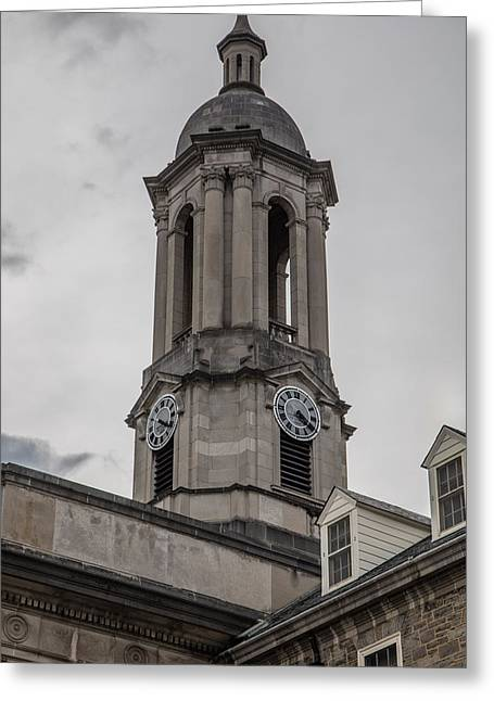 Old Main Penn State Clock  Greeting Card