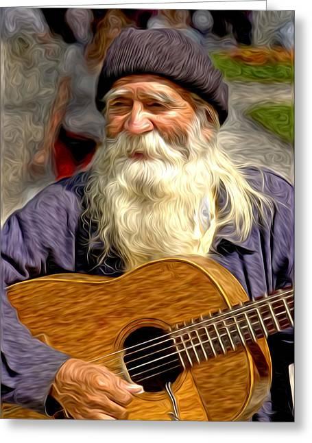 Old Man - 5 As Art Greeting Card