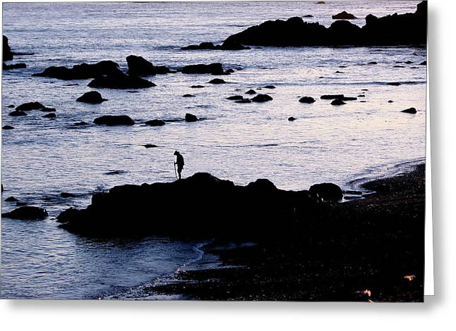 Greeting Card featuring the photograph Old Man And The Sea by Jan Cipolla